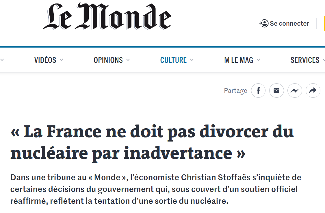 2019 11 LE MONDE TRIBUNE C STOFFAES